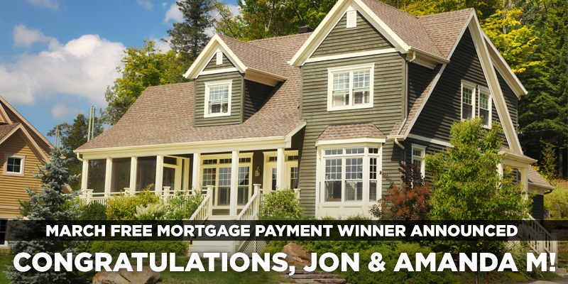 March Free Mortgage Payment Winner