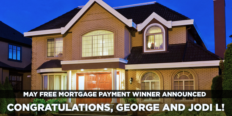 May Free Mortgage Payment Winner