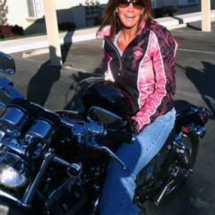Bev on a Harley