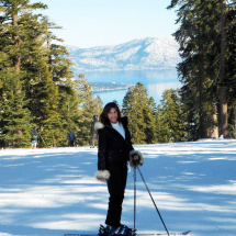 Bev skiing in Tahoe