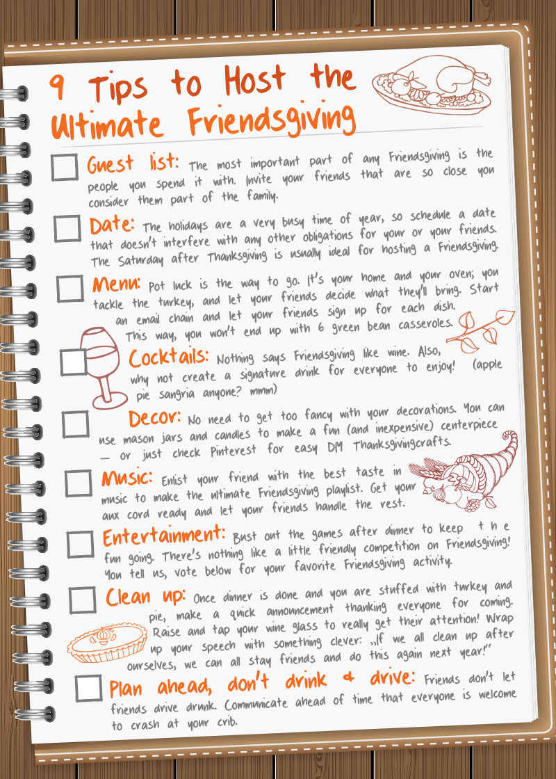 9 Tips to Host a Friendsgiving