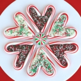 heart candy cane cookies