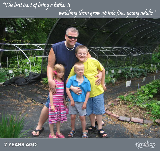 timehop bruce with kids 7 years ago