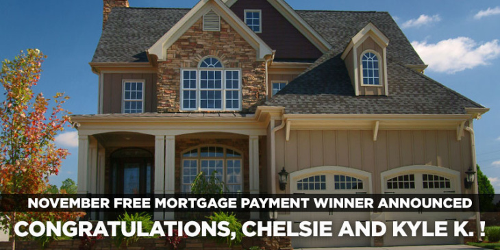 November free mortgage payment contest winner: Chelsie and Kyle K | blog.phmc.com