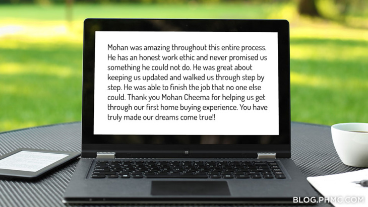 Platinum Home Mortgage customer review: Mohan Cheema | blog.phmc.com
