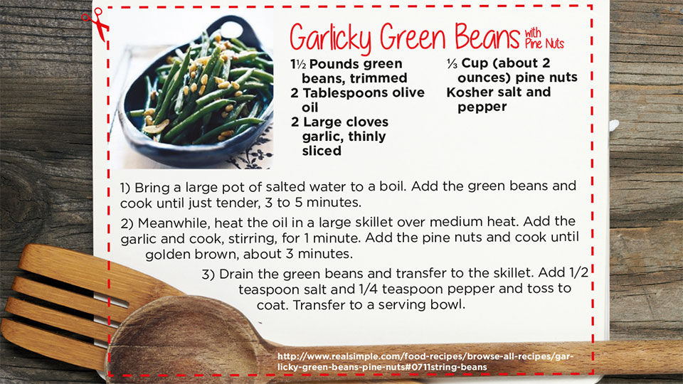 Garlicky Green Beans | blog.phmc.com