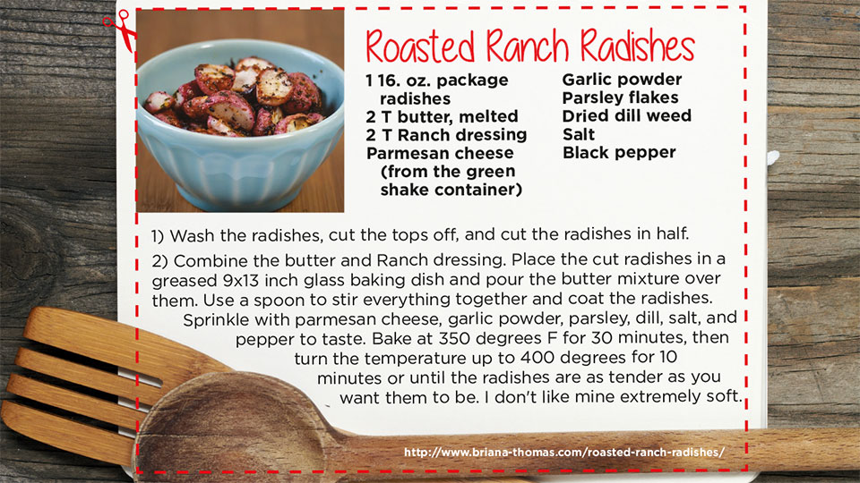 Roasted Radishes | blog.phmc.com