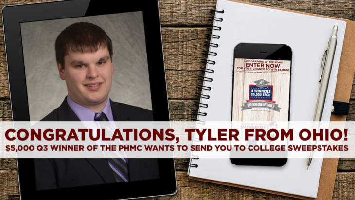 PHMC Wants to Send you to College: $20K Sweepstakes Quarter 3 Winner | blog.phmc.com