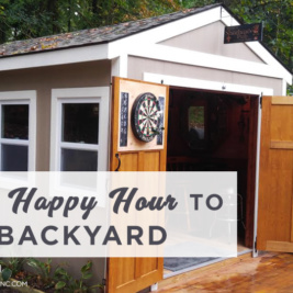 Enjoy a drink with friends in the comfort of your own backyard! With Pub SHeds, you can customize your own personal mini bar and have it delivered and installed through Pub Shed Inc. Available in all different sizes. Find this image on blog.phmc.com