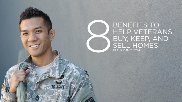 8 benefits of the VA home loan for eligible veterans. Find this image on blog.phmc.com