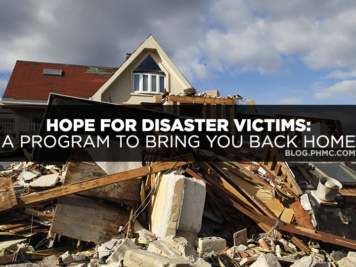 Home destroyed by natural disasters. Find this image on blog.phmc.com