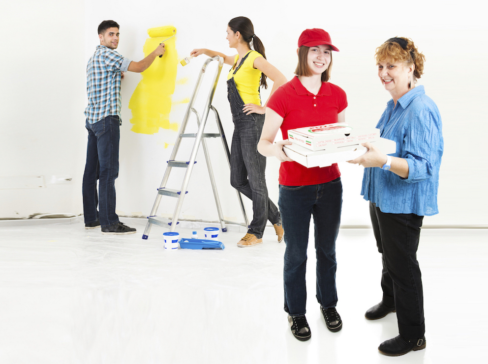 How to Buy a Brand New House by Throwing a Paint and Pizza Party as Your DownPayment