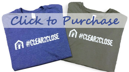 #clear2close blue and grey v neck tshirt