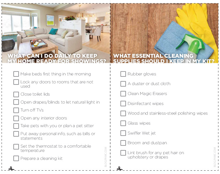 Is your home REALTOR ready?  Download this checklist to keep you on track.
