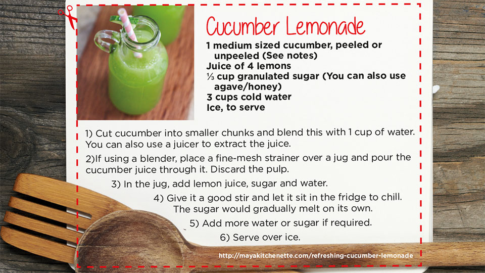 Cucumber Lemonade | blog.phmc.com