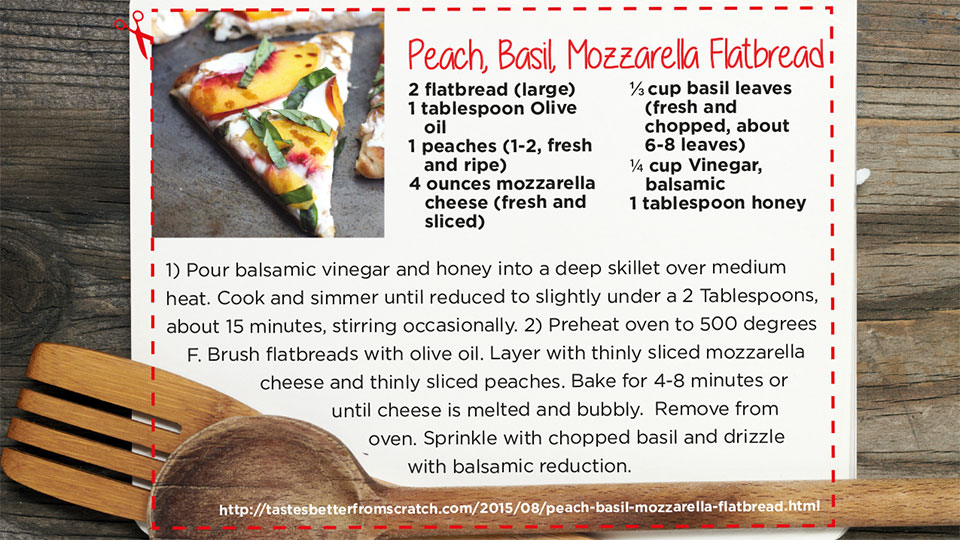 Peach Basil Flatbread | blog.phmc.com