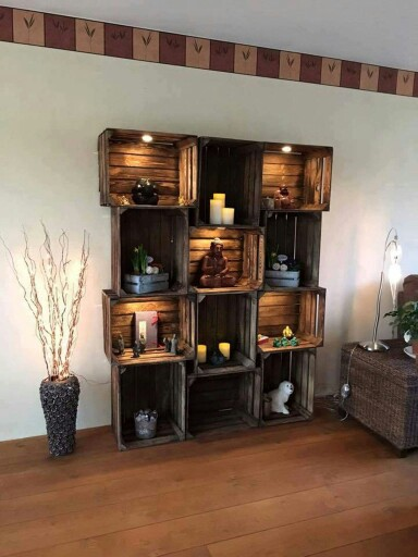 Crates, Home, Decor, DIY, Living Room