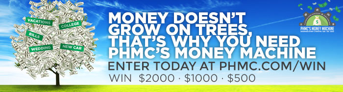 Enter to win one of 3 cash prizes: $2K, $1k, $500. New winners are slected eveery 2 months. Find this image on blog.phmc.com